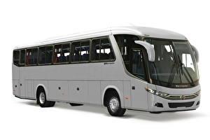 Fotos Scania Omnibus Weißer hintergrund Graues Seitlich Marcopolo Viaggio, 1050, K360 (G7) automobil