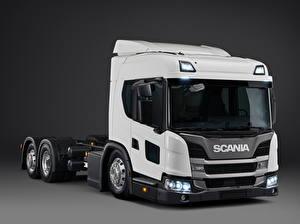 Wallpaper Scania Trucks White L 320 6x2 '2018