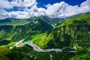 Fotos Himmel Berg Landschaftsfotografie Georgien Wolke Gudauri, Mtskheta-Mtianeti Natur