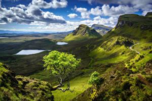Hintergrundbilder Himmel Gebirge Schottland Landschaftsfotografie Wolke Hügel Isle of Skye Natur