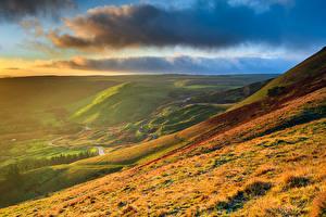 Fotos Himmel Landschaftsfotografie England Wolke Hügel Gras Natur