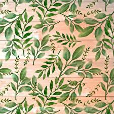 Fondos de Pantalla Textura Tablones de madera Rama Follaje Niños imágenes