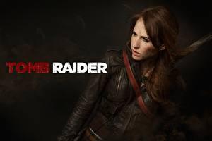 Bilder Tomb Raider Lara Croft Cosplay Braune Haare Jacke A Survivor Is Born junge frau