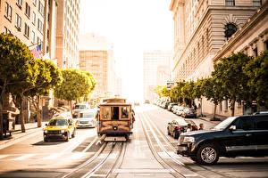 Photo USA San Francisco Street Tram Cities