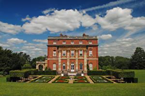 Картинки Великобритания Парк Особняк Дизайна Газоне Clandon Park House Surrey город