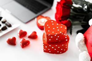 Bilder Valentinstag Geschenke Herz Unscharfer Hintergrund