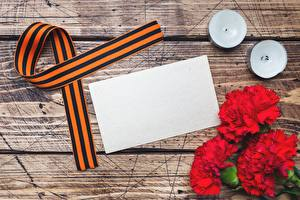 Pictures Victory Day 9 May Dianthus Template greeting card Ribbon