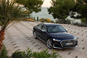 Hintergrundbilder Audi Schwarz Metallisch 2019-20 S8 Worldwide Autos