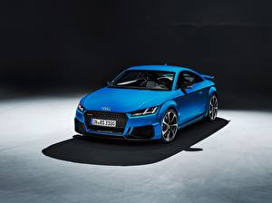 Sfondi desktop Audi Metallico Blu colori Coupé TT RS, 2020 autovettura