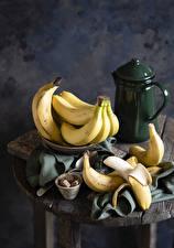 Pictures Bananas Kettle Still-life Sugar Food