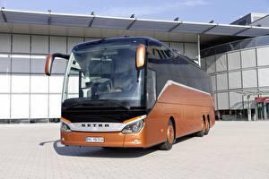 Bakgrundsbilder på skrivbordet Buss Bruna 2018, Setra, S 516 HD bil