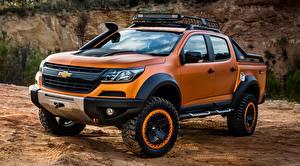 Bilder Chevrolet Pick-up Metallisch Orange 4x4, Colorado, Z71, 2016, Xtreme Concept auto