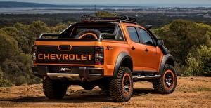 Hintergrundbilder Chevrolet Orange Hinten Pick-up 4x4 Colorado Z71 2016 Xtreme Concept auto