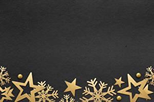 Hintergrundbilder Neujahr Schneeflocken Kleine Sterne Vorlage Grußkarte Schwarzer Hintergrund