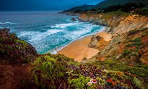 Hintergrundbilder Küste Ozean Vereinigte Staaten Kalifornien Felsen Big Sur, Julia Pfeiffer Burns State Park