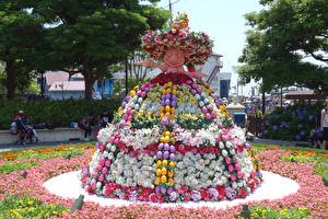 Bilder Ostern Japan Präfektur Tokio Park Disneyland Rosen Lilien Design Der Hut Ei Disney Resort Natur
