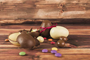 Photo Easter Confectionery Chocolate Dragee Boards Egg