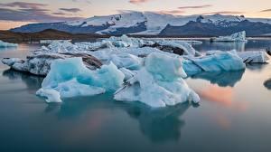 Fotos Island Wasser Berg Eis Schnee Natur