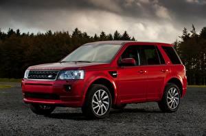 Papel de Parede Desktop Land Rover Vermelho Metálico Crossover Freelander 2, LR2, 2010 carro