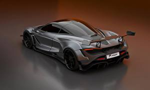 Fondos de escritorio McLaren Gris Metálico 2020, 720S, widebody kit, Prior Design Coches