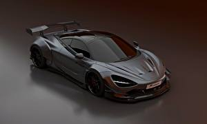 Fondos de escritorio McLaren Gris Metálico Prior Design, 2020, 720S, widebody kit automóvil