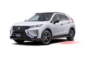 Bilder Mitsubishi Weiß Metallisch Softroader Eclipse, JP-spec, Cross, Accessorized, 2019