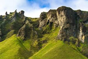 Fotos Berg Island Felsen Trolls of Foss Natur