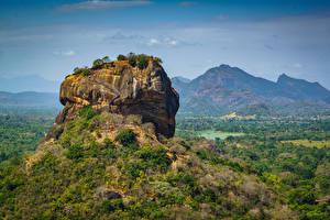 Fotos Gebirge Sri Lanka Felsen Sigiriya, Pidurangala, Matale District Natur