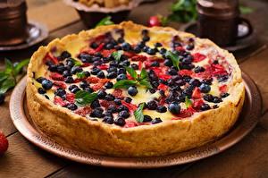Hintergrundbilder Obstkuchen Beere Heidelbeeren Erdbeeren Lebensmittel