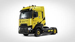 Fotos Renault Grauer Hintergrund Gelb T520, Renault Sport Racing auto