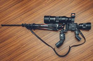 Pictures Rifle Sniper rifle Creative Camera lens Camera