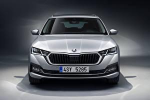 Fotos Skoda Vorne Silber Farbe Metallisch Kombi 2020, Octavia Combi Autos