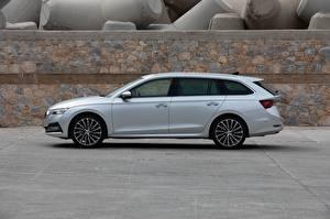 Fotos Skoda Seitlich Silber Farbe Metallisch Kombi 2020, Octavia Combi auto