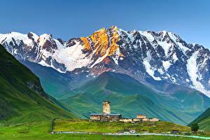 Fotos Himmel Berg Georgien Ushguli, Upper Svaneti Natur