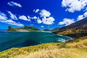デスクトップの壁紙、、空、南アフリカ、海岸、雲、湾、Cape Town, Hout Bay、自然