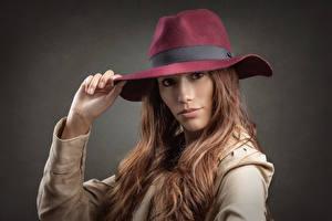 Fotos Der Hut Haar Starren Braune Haare Stephanie