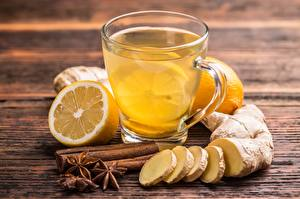 Pictures Tea Cinnamon Lemons Ginger Cup