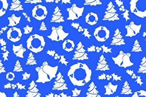 Bilder Textur Neujahr Glocke Kranz Tannenbaum
