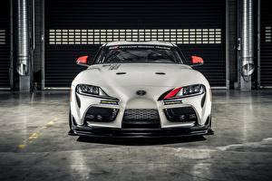 Picture Toyota White Metallic Front Gazoo Racing, GR Supra GT4, 2020 automobile
