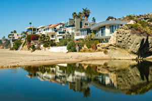 Bilder Vereinigte Staaten Küste Gebäude Kalifornien Laguna Beach Städte