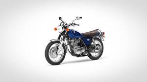 Bilder Yamaha Grauer Hintergrund Blau SR400, 2017