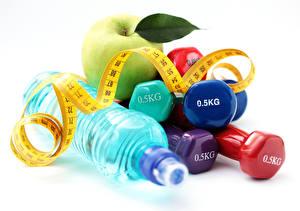 Fotos Äpfel Fitness Hantel Flasche Band 0.5KG sportliches