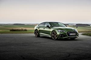 Wallpapers Audi Green Metallic RS5 Sportback, 2020 automobile