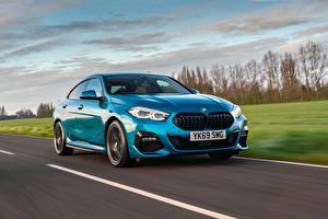 Image BMW Roads Motion Light Blue Metallic Coupe Gran Coupe, UK-spec, 2-Series, M Sport, 2020, 218i, F44 auto