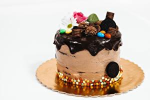 Bilder Torte Schokolade Grauer Hintergrund