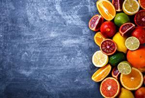 Bilder Zitrusfrüchte Apfelsine Zitronen Grapefruit