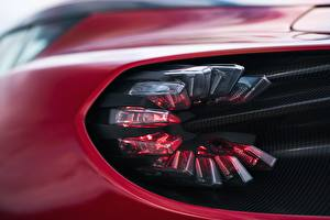 Wallpapers Closeup Macro photography Aston Martin Headlights Zagato V12 Twin-Turbo DBS GT 2020 Cars