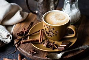 Images Coffee Chocolate Cinnamon Cup Saucer Spoon Food