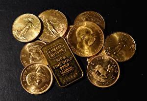 Fotos Münze Gold Barren Metall