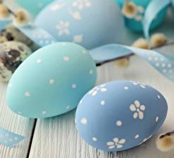 Fotos Ostern Nahaufnahme Eier Hellblau Lebensmittel
